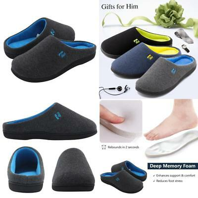 Mens Memory Foam Slippers House Slippers Men Shoes Size 7 14 Indoor Outdoor Sole