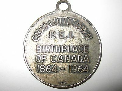 Charlottetown Pei Birthplace Of Canada 1864-1964 100 Year Medallion