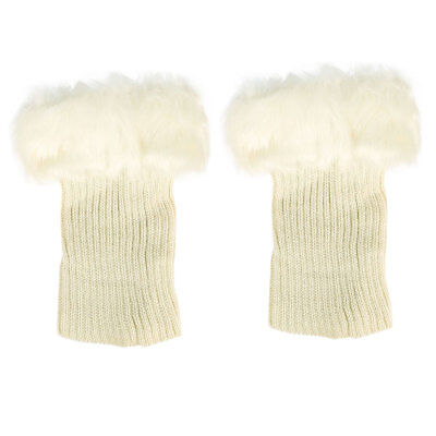 Womens Warm Winter Socks Faux Fur Boot Shoes Cuffs Cover Toppers  Leg Warmers AU