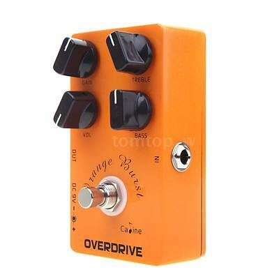 Caline CP-18 Orange Overdrive Pre AMP Electric Guitar Effects Pedal I2X7