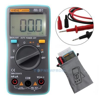 Digital Multimeter 2000 Counts Auto-Range AC/DC V+A+Ohmmeter Widerstand Diode