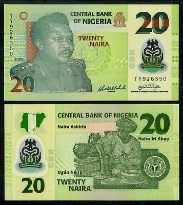 NIGERIA 10 NAIRA 2009 POLYMER P33d UNCIRCULATED