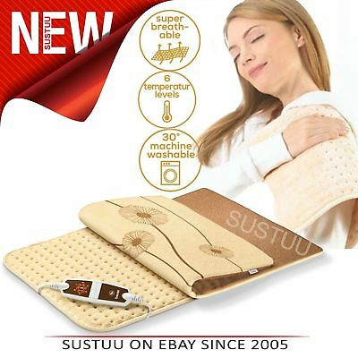 Beurer XXL Cosy Heat Pad│Soft Microfibre Cover│6 Heat Setting│Function Display│