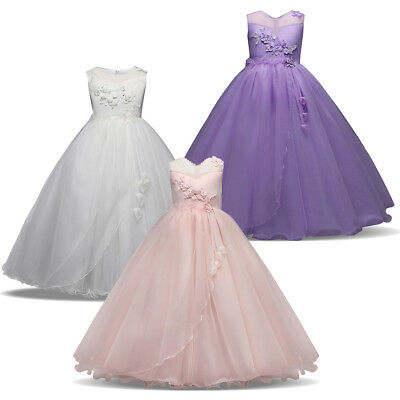 Flower Girl Princess Dress Party Pageant Wedding Bridesmaid Formal Gown Dresses