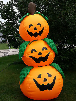 Inflatable 3 Jack O Lanterns Stack Tower 8ft