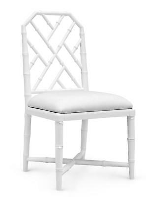 Bungalow 5 Jardin Traditional White Lacquered Mahogany Side Chair Set of 2