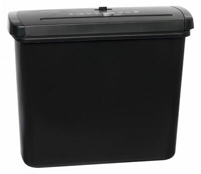 WHSmith Black 7 Litre Straight Cut A4 Paper Shredder