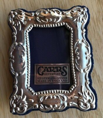 Carrs of Sheffield 925 Solid Silver photo picture frame,Millennium hallmark.