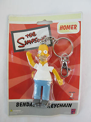 The Simpsons HOMER SIMPSON Bendable Keychain *New in Package!*