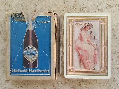 1915 Coca-Cola Early Wide Advertising Playing Cards in Box - Elaine!!