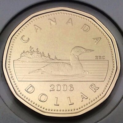 2006 Canada Loonie Brilliant Uncirculated BU One Dollar Coin Not In Case C497