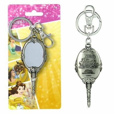 Disney Beauty & The Beast Magic Mirror Pewter Key Chain, NEW