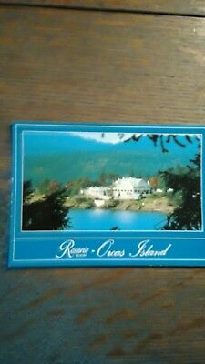 Beautiful Rosario Resort Photo Post Card  Orcas Island Washington