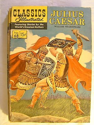 Classics Illustrated Comic Book No 68 February 1950 Julius Caesar Shakespeare