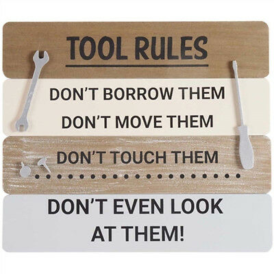 Christmas Gift For Dad.Tool Rules Wooden Sign Plaque Christmas Gift Dad Grandad Brother