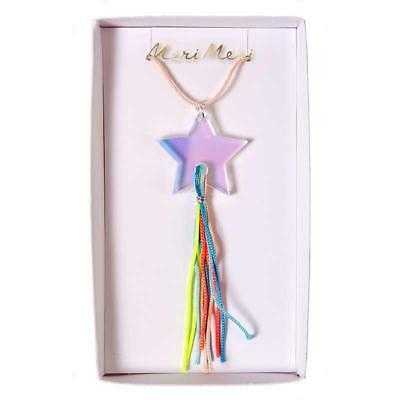 Meri Meri Children's Fun Shooting Star Necklace kids, xmas stocking filler gift
