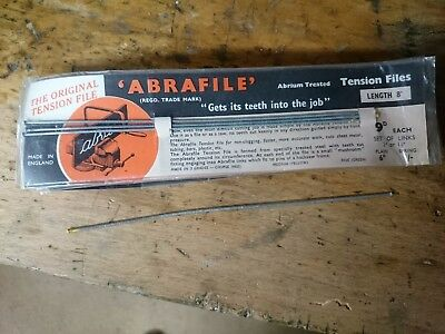 Abrafile Tension Files (sawing wires) 200mm 8ins Medium Yellow   New old stock