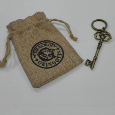 Hogwarts Gringotts Bank Wizarding Bank Key And Galleons Commemorative Coin Sack