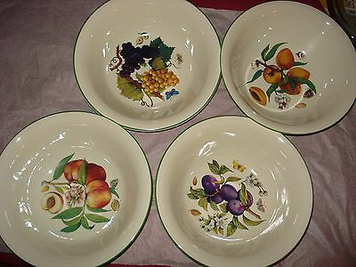 "4 Prinknash Abbey Pottery England Abbey Fruit 20cm 8"" Pasta Serving Bowls"