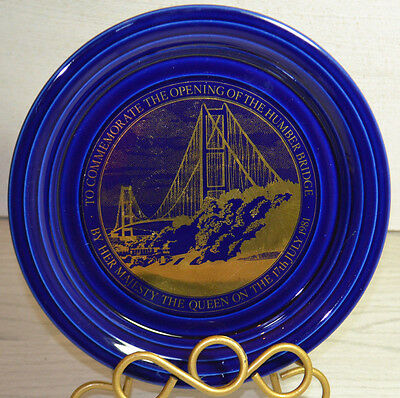 Rare Vintage Palte To Commomorate The Opening Of The Humber Bridge By The Queen