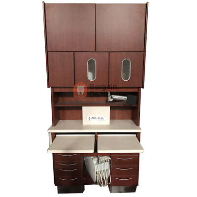 MCC Perfect Fit Dental Rear Cabinet Brown with Assistant's Instrumentation