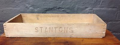 Vintage Crate Box Planter  'Stantons' Wooden Box