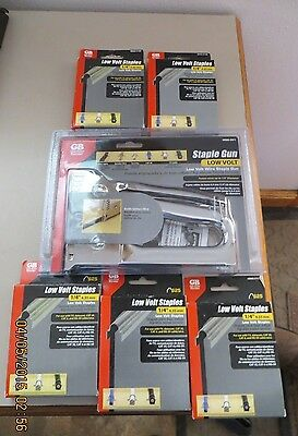 "Gardner Bender Low Voltage Staple Gun With 3125 1/4"" Staples Msg-301 Gb"
