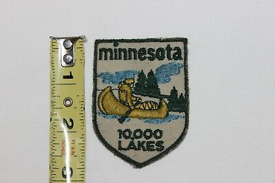 "Vintage MINNESOTA 10,000 LAKES 2 3/4"" Souvenir Patch"