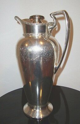 Vintage and Rare 1900's LAVIN & LAUER Co. NYC Silverplate Pitcher