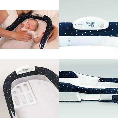 Baby Delight Snuggle Nest Surround Xl Navy Dots