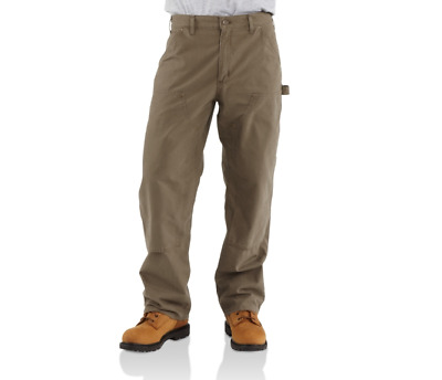 Carhartt Men's B195 Double Front Canvas Work Dungarees Light Brown Original FIT