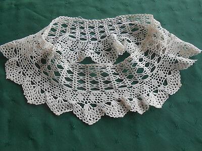 Vintage Hand Crochet Lace For A Collar Or Trim, Vintage 1930