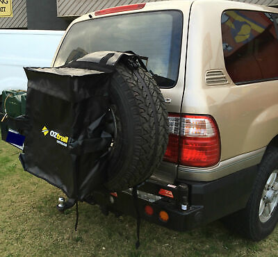 Oztrail Spare Wheel Bin & Accessory Bag Recovery Tote Snatch Rear - 4Wd-Whb-D