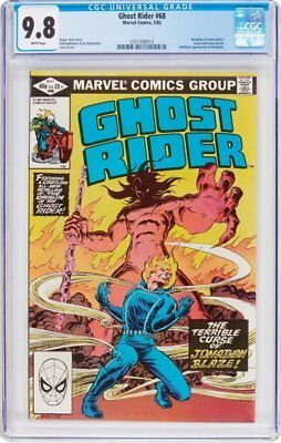 Ghost Rider #68 CGC 9.8 Marvel 1982 Origin! NM/Mint Copy! New Case! G11 714 1 cm