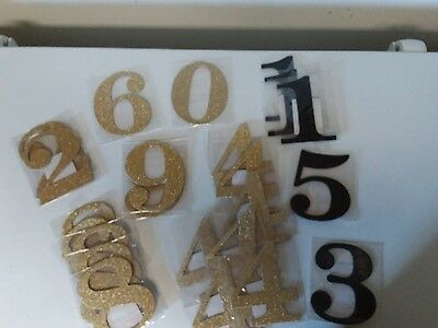 new glitter table numbers set