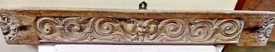 Antique Yalli Carved Wall Hanging Wooden Window Panel Vintage Temple panel Rare