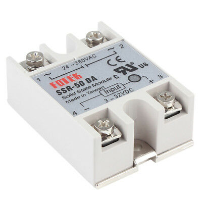 Solid State Relay Durable SSR-50DA 3-32VDC 50A/250V Output 24-380VAC W/Cover hot