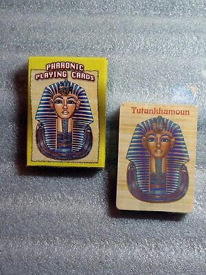 Egyptian Pharaonic Playing Cards; King Tut Design: 54 Cards Deck, New Sealed.