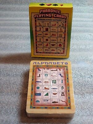 Egyptian Pharaonic Playing Cards; Hieroglyphics Alphabet: 54 Cards Deck, Sealed.