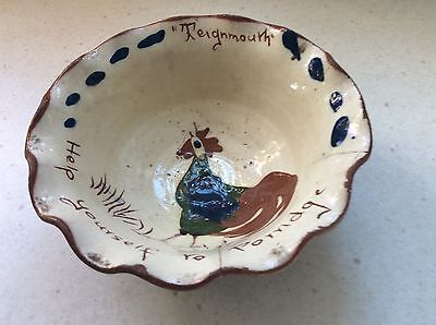 "Vintage Devon Motto Ware Pottery Bowl ""Teignmouth"""