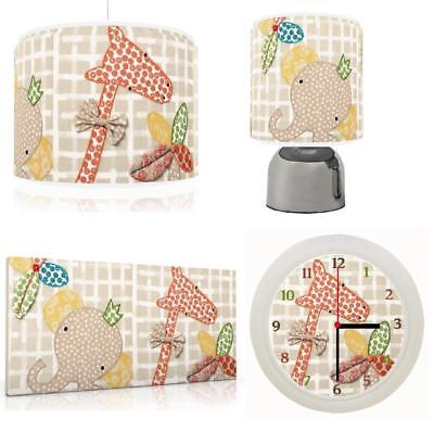ZAM BEE ZEE Baby Bedroom Bundle Light shade,Touch Lamp, Clock, Canvas FREEP&P