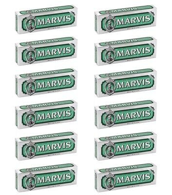 12pz MARVIS CLASSIC STRONG MINT Dentifricio Denti alla menta piperita 85ml NUOVO