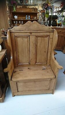 antique pew monk seat settle with storage