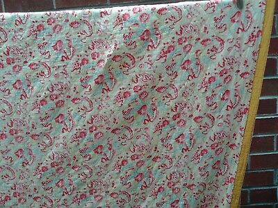 """Vintage Durham Quilt 75"""" x 86"""" Yellow Floral - Old and Worn Beauty"""