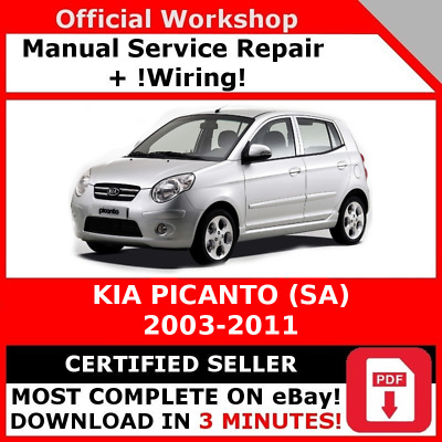 factory workshop service repair manual kia picanto sa 2003 - 2011