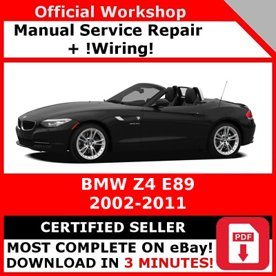 factory workshop service repair manual bmw z4 e89 2002 - 2011