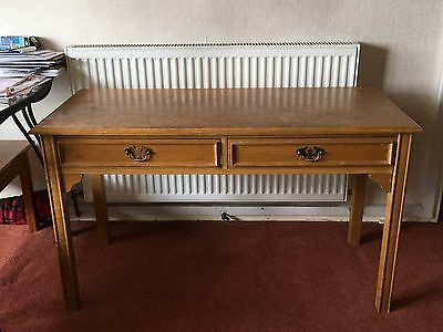 Antique Oak Desk with 2 Drawers