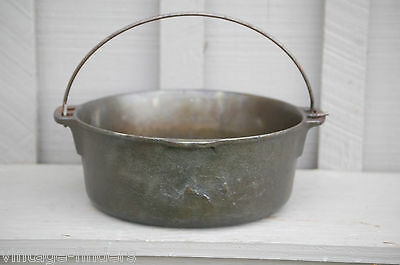 Vintage Wagner Ware Griswold 5 Qt. Cast Iron Dutch Oven Kitchen Camping Tool USA