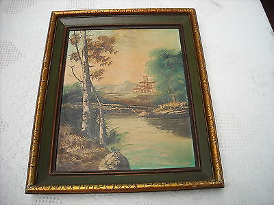 VINTAGE PAIR OF SARTI SIGNED OIL PAINTINGS FRAMED in EXCELLENT CONDITION