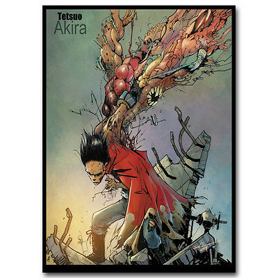 Akira - Red Fighting Anime Art Silk Poster Print Wall Decor 13x18 inches